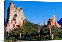 Rock formations on a hill, Colorado Springs, Colorado, USA