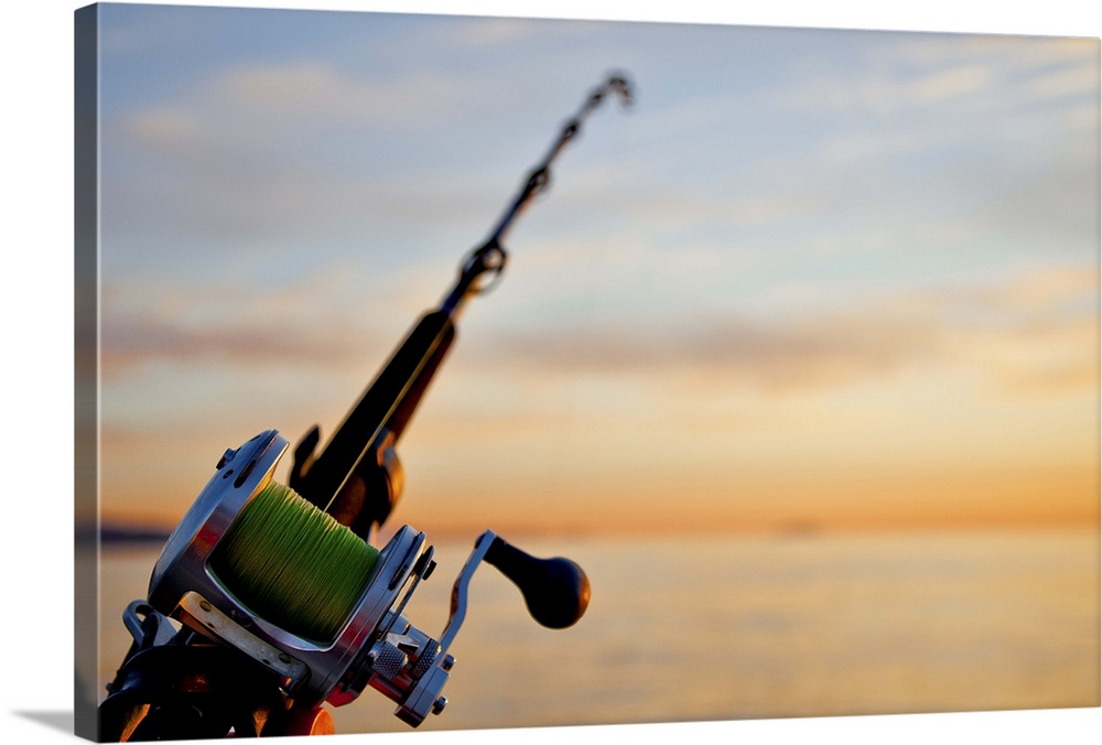 Premium Thick Wrap Canvas Wall Art Entitled Rod And Reel