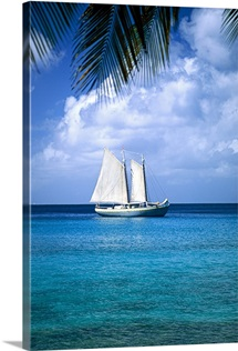 Sailboat in Mustique, Grenadines