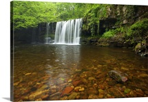 Sgwd ddwli Waterfall, Ystradfellte, Brecon, Wales
