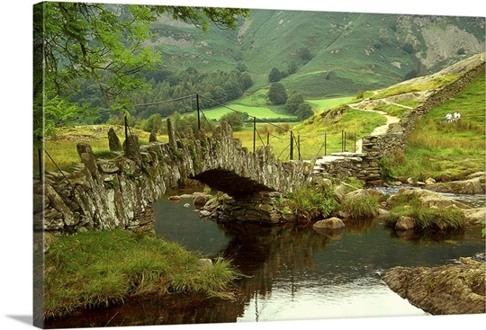 Slater S Bridge At The Foot Of Lingmoor Fell Northwest England Photo Canvas Print Great Big