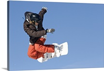 Snowboarder, Terrain Park, Keystone Ski Area, Summit County, Dillon, Colorado