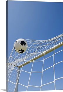 Soccer ball and goal