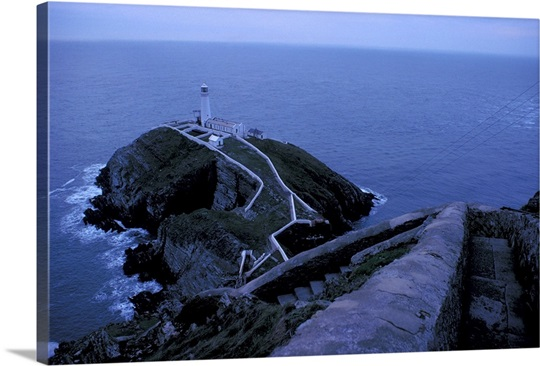 South Stack Lighthouse, Holy Island, Isle of Anglesey, Wales.