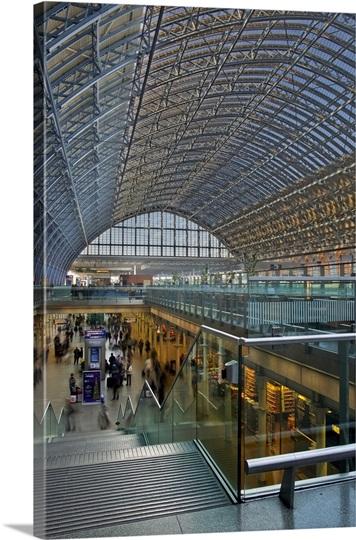 St Pancras International station in London