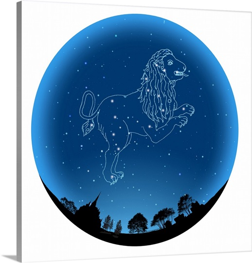 Star sign leo photo canvas print great big canvas for Best star sign for leo