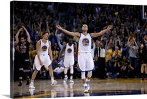 Stephen Curry of the Golden State Warriors celebrates