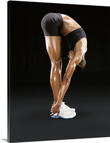Studio Cut Out of a Woman Stretching