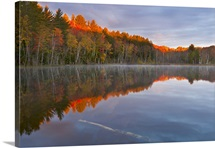 Sunrise light on Council Lake in the Upper Peninsula; Hiawatha National Forest, MI