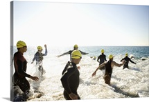 Swimmers in Triathlon