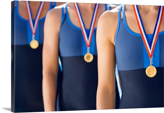 Swimmers with medals