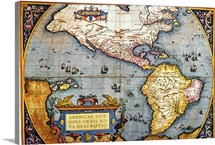 The Americas, 1587 Map by Abraham Ortelius