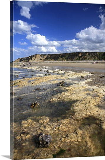 The beach and sand cliffs at East Runton Beach on the Peddars way, North Norfolk