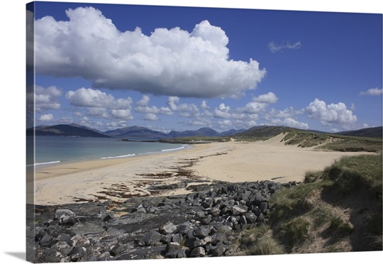 The beach at Scarasta on the west coast of South Harris in the Outer Hebrides, Scotland