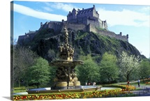The Castle, Edinburgh, Lothian, Scotland.