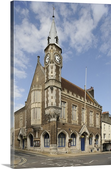 The historic Corn Exchange in the town of Dorchester, Dorset, UK.