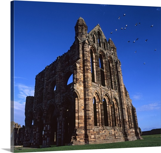 The remains of Whitby Abbey, a Benedictine Monastery dating back to 657AD.