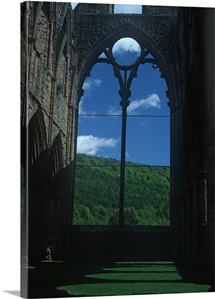 The ruins of Tintern Abbey on the River Wye in Monmouthshire