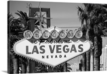 The sign that welcomes you as you enter town on Las Vegas Boulevard, Las Vegas, Nevada.