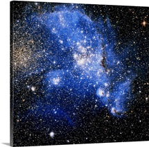 This galaxy, in constellation Tucana, is a satellite galaxy that orbits the Milky Way.