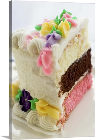 Cake Art Flavours : Three different flavor layer birthday cake on a white ...