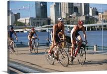 Triathloners Cycling