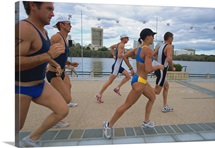 Triathloners Running