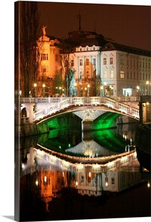 Triple Bridge, Ljubljana, Slovenia, Europe