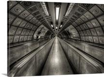 Underground tunnel, London, UK.