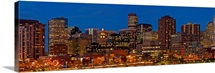 USA, Colorado, Denver, panoramic cityscape at night