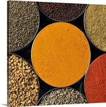 Various kinds of spices.
