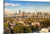 View from a rooftop in Queens of the New York Skyline