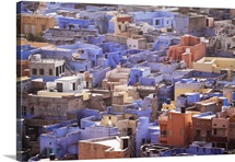 View of Jodhpur blue houses.