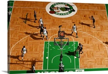 View of the game between the Boston Celtics and the Milwaukee Bucks
