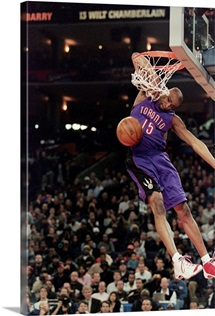 Vince Carter of the Toronto Raptors jumps to make the slam dunk