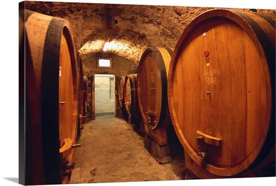 Wine Cask Tuscany Italy Europe Photo Canvas Print