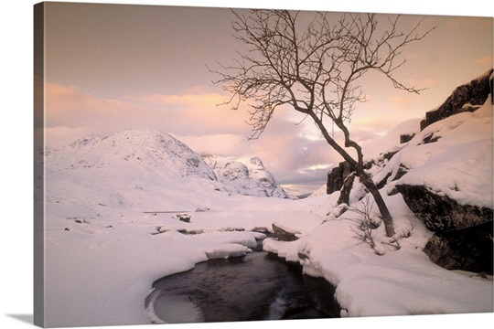 Winterscene, Glencoe, Highland, Scotland.