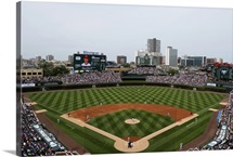 Wrigley Field during a game, Chicago, Illinois, home of the Cubs