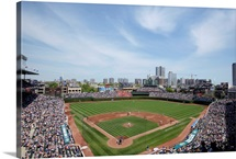 Wrigley Field in Chicago, Illinois, home of the Cubs