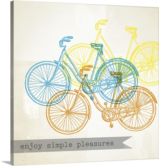 bikes enjoy iii photo canvas print great big canvas. Black Bedroom Furniture Sets. Home Design Ideas