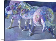 Three Dancers in Grey and Blue