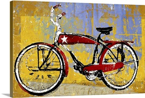 red bike with star photo canvas print great big canvas. Black Bedroom Furniture Sets. Home Design Ideas