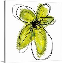 Green Liquid Flower Two