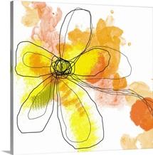 Liquid Orange Flower