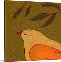 Tangerine Bird in Thought