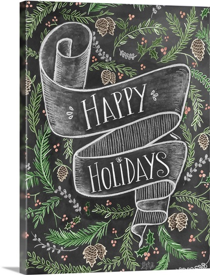 Happy Holidays Handlettering