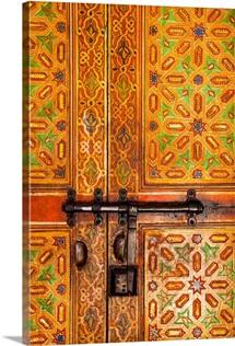 Interior door detail, Moulay Ismal Mousoleum, Medina, Meknes, Morocco