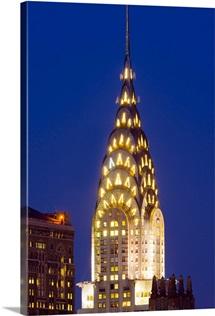 New York, Manhattan, Midtown skyline and Chrysler Building