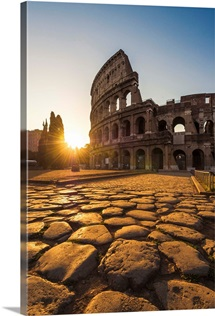Rome, Lazio, Italy. Colosseum at summer sunrise