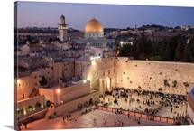 Wailing Wall and Dome of The Rock Mosque, Jerusalem, Israel